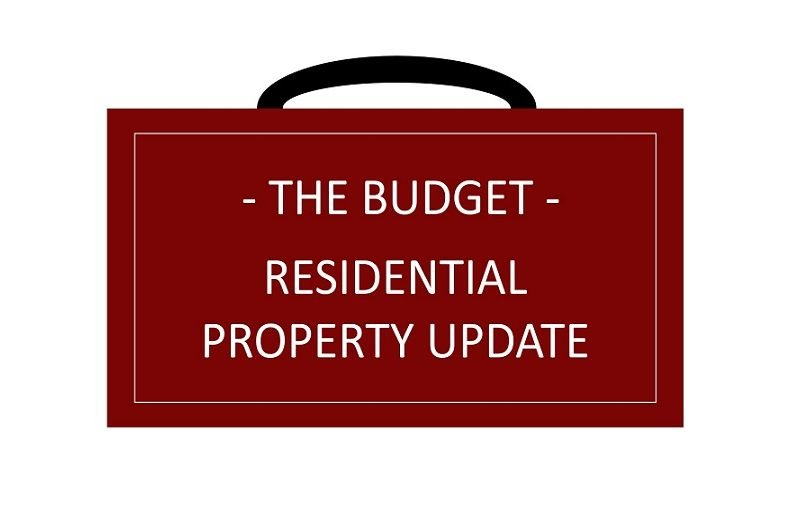 The Budget – Residential Property News