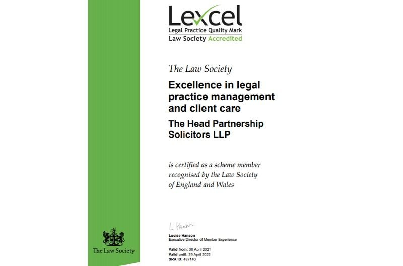 THP Solicitors Awarded Law Society Quality Standard